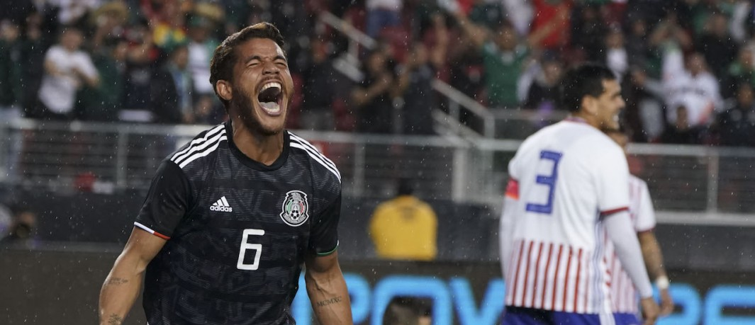 Jona goal celebration vs. Paraguay
