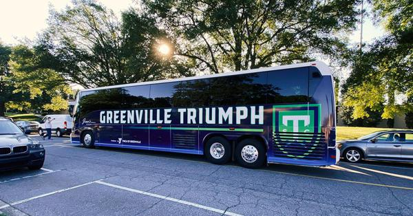 Ônibus do Greenville Triumph SC