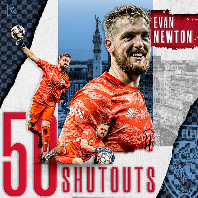 Evan Newton 50 shutouts USLChampionship